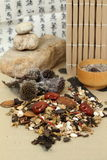 Chinese herbal medicine. The scene of chinese drink Chinese traditional medicine Royalty Free Stock Photo