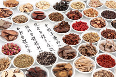 Chinese Herbal Medicine Selection Stock Image