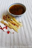 Chinese herbal medicine soup & herbs Stock Image