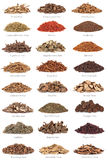 Chinese Herbal Medicine with Titles Royalty Free Stock Photo