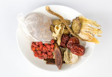 Chinese herbal medicines Royalty Free Stock Image