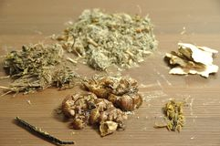 chinese herbal soup ingredients Royalty Free Stock Photos