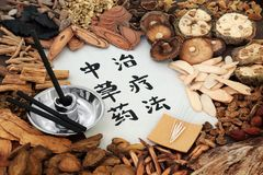 Chinese Herbal Therapy stock photos