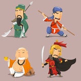 Chinese heroes Royalty Free Stock Photos