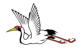 Chinese heron painting Royalty Free Stock Photo