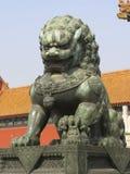 Chinese het bronsleeuw van het Paleis van de zomer Royalty-vrije Stock Afbeelding