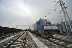 Chinese  HeXie Freight train Stock Photos