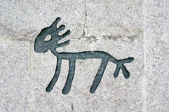 Chinese Hieroglyphs of horse Royalty Free Stock Photos