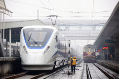 Chinese high speed train Stock Photography