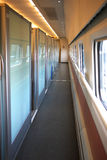 Chinese high speed train first class coach. Interior of Chinese high speed train's first class coach Royalty Free Stock Photos