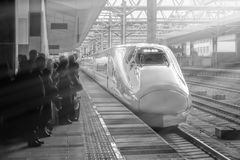 Chinese High-speed train at Kunming railway station royalty free stock photo