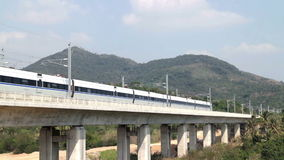 Chinese high speed train; stock video footage
