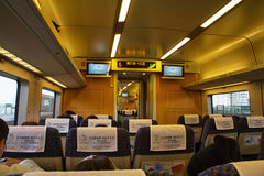 Chinese High Speed Train's cabin Royalty Free Stock Photography