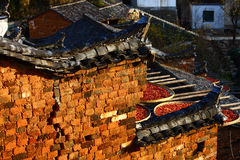 Chinese historic eaves Royalty Free Stock Photos