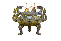 Chinese historic sculptured ashtray Stock Image