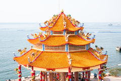Chinese history architecture building. Koh Loi Chonburi Thailand location Stock Photography