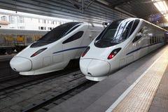 Chinese hoge snelheidstrein Stock Afbeelding
