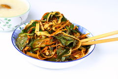 Chinese Home Dishes. Various vegetables salad with spicy seasoning Stock Photos