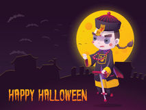 Chinese Hopping Vampire Ghost for Halloween Card Stock Photos