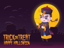 Chinese Hopping Vampire Ghost for Halloween Card Stock Photography