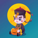 Chinese Hopping Vampire Ghost for Halloween Stock Images