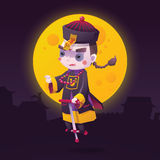 Chinese Hopping Vampire Ghost for Halloween Stock Photography