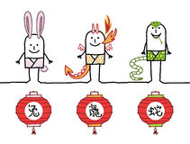 Chinese horoscope 2 Stock Photos