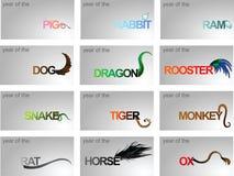 Chinese horoscope Royalty Free Stock Photography