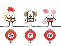 Chinese horoscope 4 Stock Image