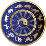 Chinese horoscope. Vector illustration of horoscope signs Stock Photo