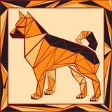 Chinese horoscope stylized stained glass - dog Stock Image