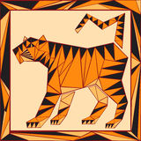 Chinese horoscope stylized stained glass - tiger Stock Photos