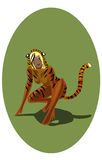 Chinese horoscope tiger-women. 1 of 12 signs of Chinese horoscope tiger-women Royalty Free Illustration