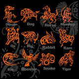 Chinese Horoscope - vector set. Stock Photos