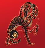 Chinese horoscope. Year of the dog Royalty Free Stock Image