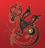 Chinese horoscope. Year of the dragon Royalty Free Stock Photography