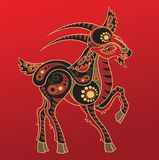 Chinese horoscope. Year of the goat Stock Photography