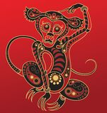 Chinese horoscope. Year of the monkey Royalty Free Stock Photos
