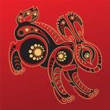 Chinese horoscope. Year of the rabbit Stock Photos