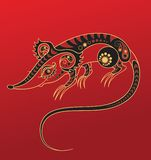 Chinese horoscope. Year of the rat Royalty Free Stock Image