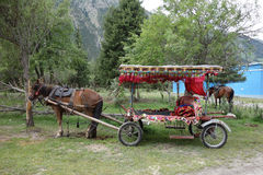 Chinese horse carriage Stock Images