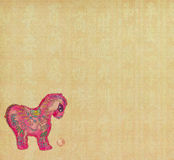 Chinese horse knot on paper background. Word for horse, 2014 is year of the horse Royalty Free Stock Images
