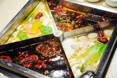 Chinese hot pot close up Royalty Free Stock Images