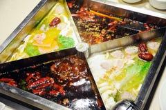 Chinese hot pot close up