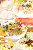 The Chinese hot pot food set Stock Image