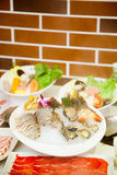 The Chinese hot pot food set Royalty Free Stock Image