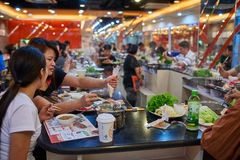 Chinese Hot pot restaurant Beijing China Royalty Free Stock Photo