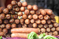 Chinese hot sausage Royalty Free Stock Photos