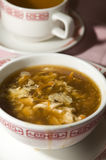 Chinese hot and sour soup Royalty Free Stock Photo