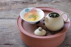 Chinese hot tea set Royalty Free Stock Image